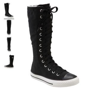 Converse Chuck T All-Stars Black Knee-High Sneaker